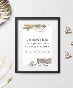 Plakat z typografią do dekoracji salonu