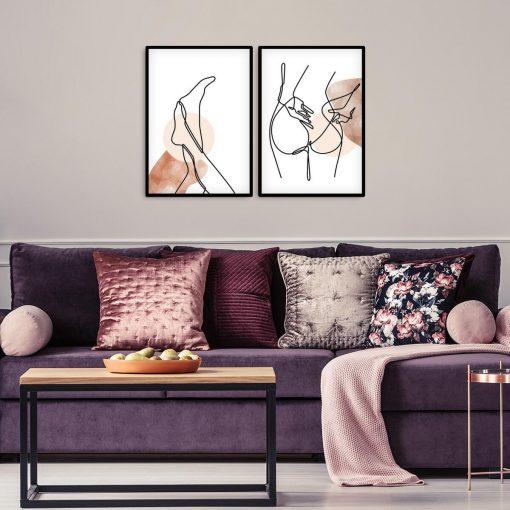 Plakaty z ciałem kobiety - akt