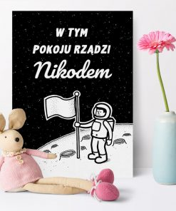 Spersonalizowany plakat z kosmonautą