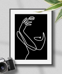 Szkic kobiecego ciała na plakacie