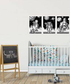 Kosmiczne plakaty dla dzieci z ufoludkami