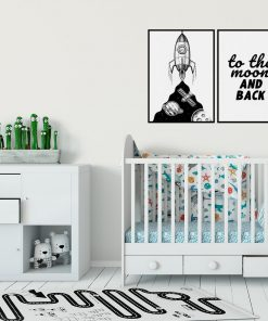 Plakat dyptyk: to the moon and back