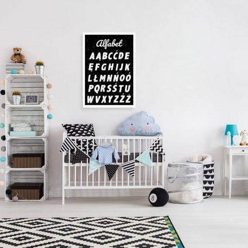 Plakat z alfabetem do szkolnej klasy