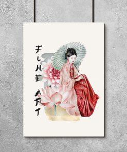 Plakat z japońskimi motywami