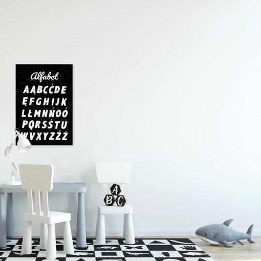 Plakat z literkami do klasy języka polskiego