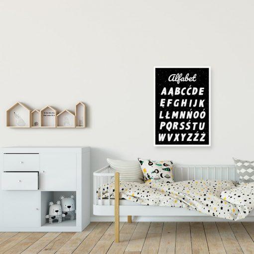 Plakat z literkami do szkoły