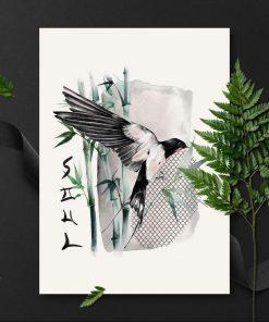 Plakat z napisem: soul i bambusami
