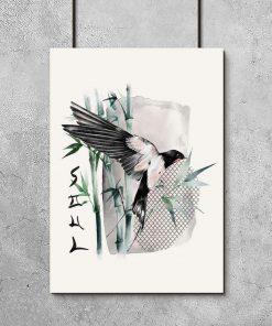 Plakat z napisem: soul i ptaszkiem