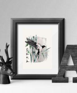 Plakat z ptaszkiem i napisem: dusza