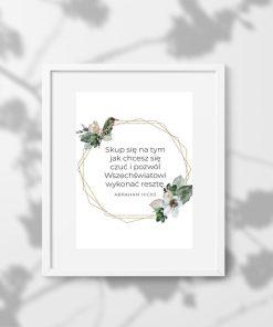 Plakat ze słowami Hicksa o przyciąganiu dobrych rzeczy