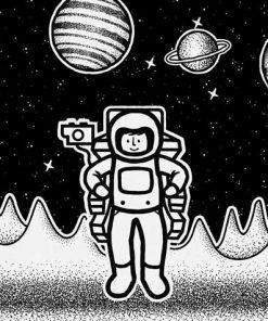 Tryptyk plakatowy z kosmitami